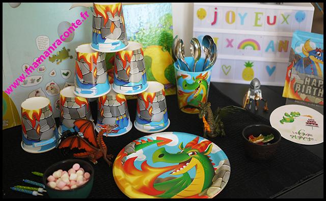18. vaisselle jetable anniversaire dragons