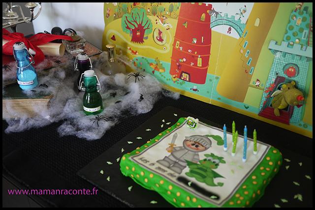 2. décoration - anniversaire enfant dragons