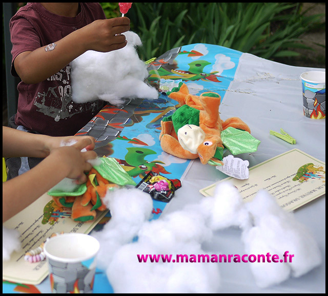 28. atelier doudou dragon - anniversaire enfants
