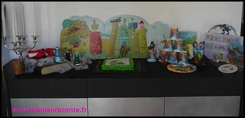 3. décoration buffet anniversaire dragons