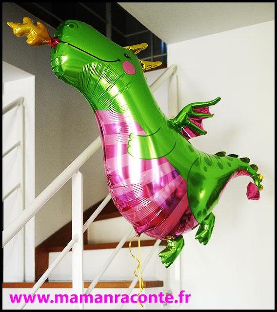 4. ballon dragon helium - anniversaire enfant