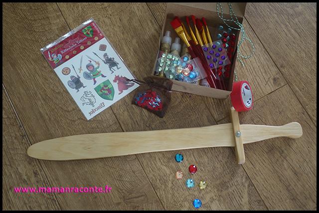 6. atelier épée enfant en bois à customiser - anniversaire dragons