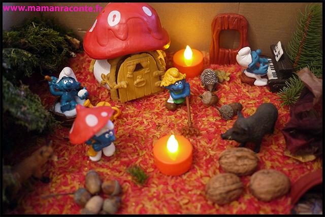 1. Bac sensoriel de l'automne - la forêt enchanté (c) Les cahiers de Lucie-Rose