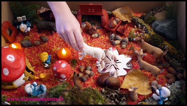 10. Bac sensoriel de l'automne - la forêt enchanté (c) Les cahiers de Lucie-Rose