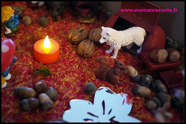 15. Bac sensoriel de l'automne - la forêt enchanté (c) Les cahiers de Lucie-Rose