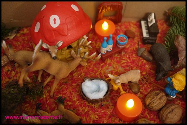 17. Bac sensoriel de l'automne - la forêt enchanté (c) Les cahiers de Lucie-Rose