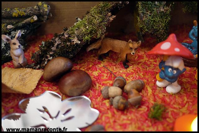 2. Bac sensoriel de l'automne - la forêt enchanté (c) Les cahiers de Lucie-Rose