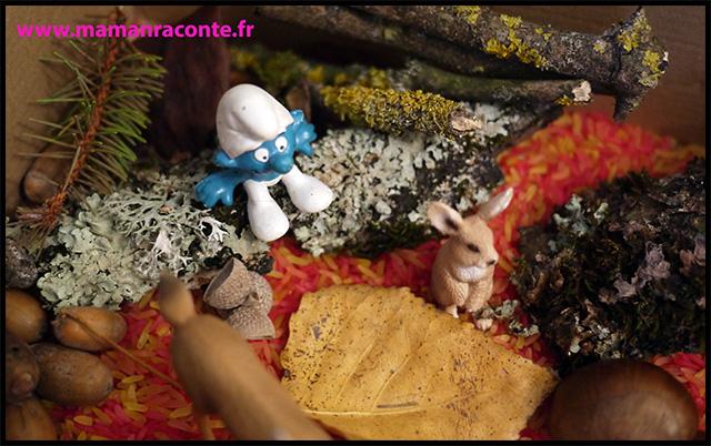 5. Bac sensoriel de l'automne - la forêt enchanté (c) Les cahiers de Lucie-Rose