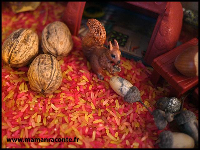 6. Bac sensoriel de l'automne - la forêt enchanté (c) Les cahiers de Lucie-Rose