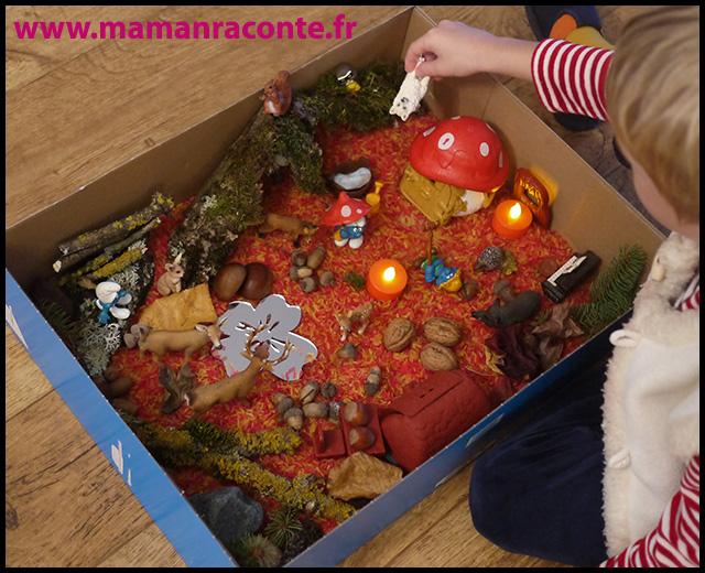 7. Bac sensoriel de l'automne - la forêt enchanté (c) Les cahiers de Lucie-Rose