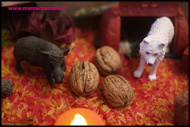 9. Bac sensoriel de l'automne - la forêt enchanté (c) Les cahiers de Lucie-Rose