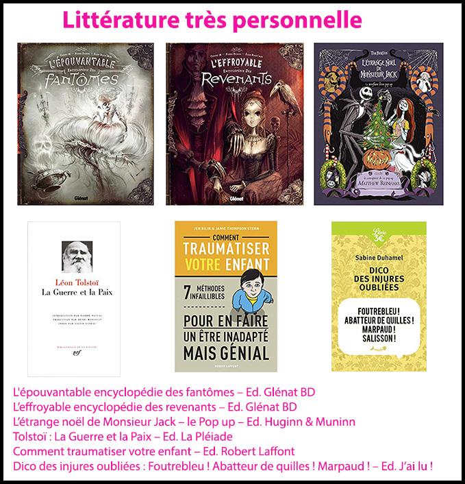 wishlist noel femme - littérature - les cahiers de Lucie-Rose